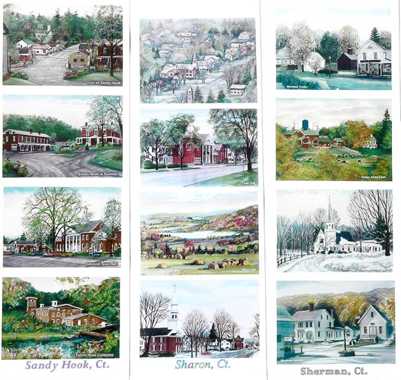 Scenes From Sandy Hook: Sandy Hook CT, Sharon CT, Sherman CT Scenes By Artists